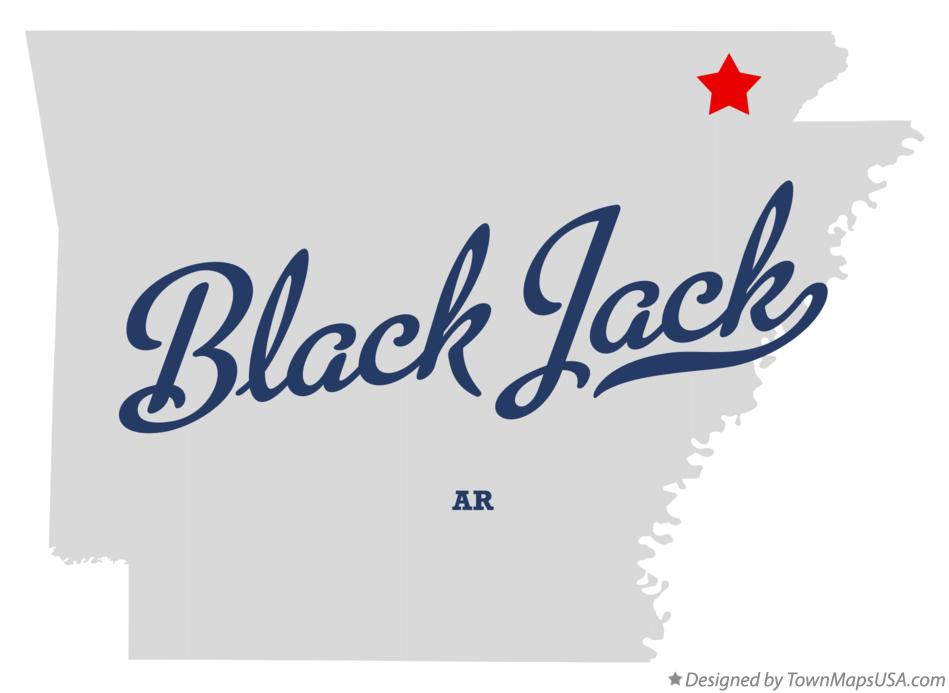 Map of Black Jack Arkansas AR