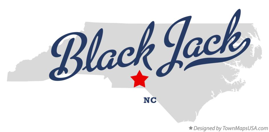 Richmond County Nc Map.Map Of Black Jack Richmond County Nc North Carolina