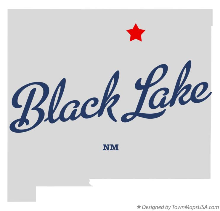 Map of Black Lake New Mexico NM