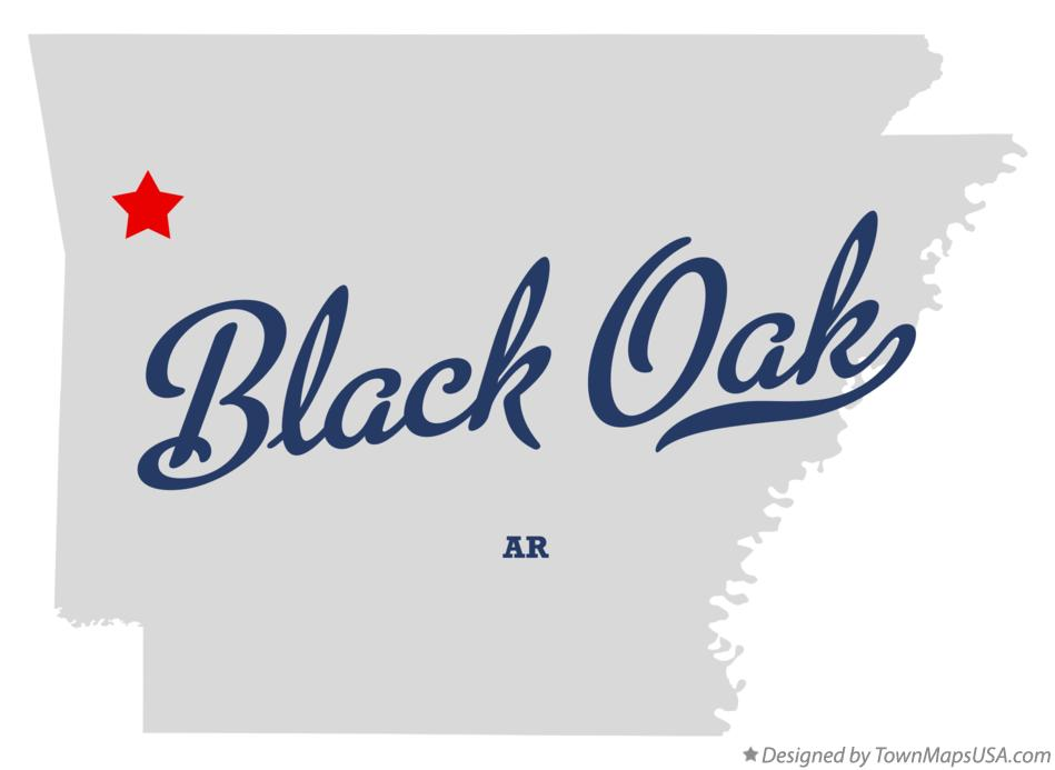 Map of Black Oak Arkansas AR