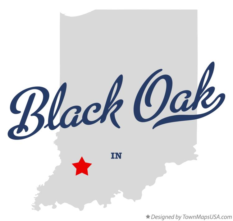 Map of Black Oak Indiana IN