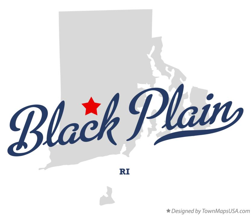 Map of Black Plain Rhode Island RI