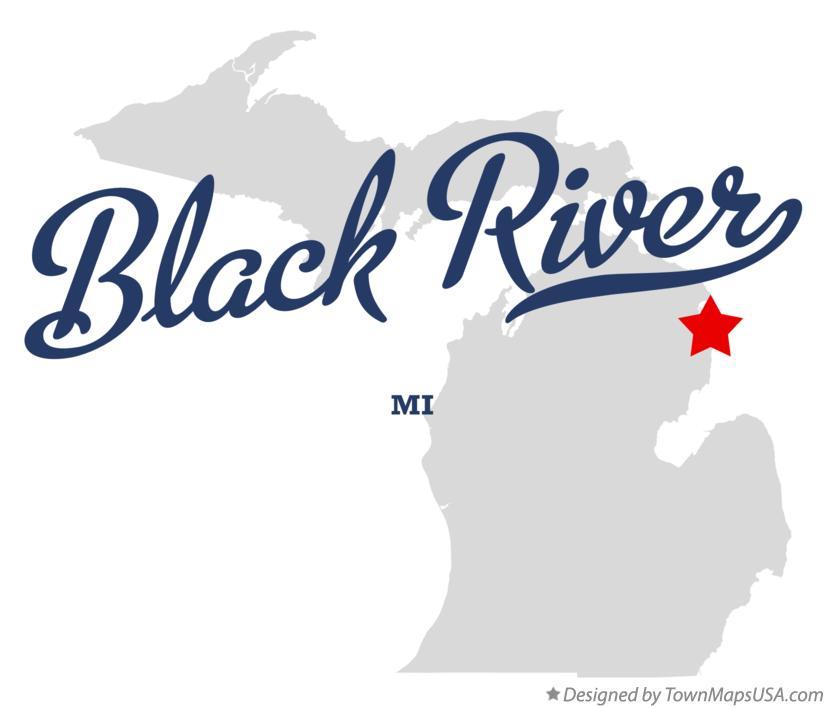 Map Of Black River Mi Michigan