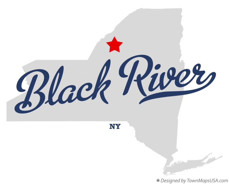 Map of Black River New York NY