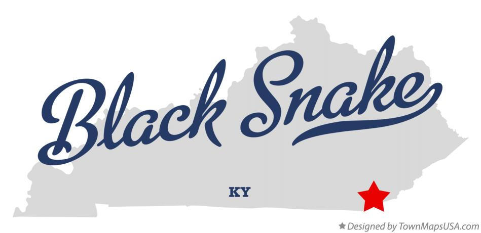 Map of Black Snake Kentucky KY