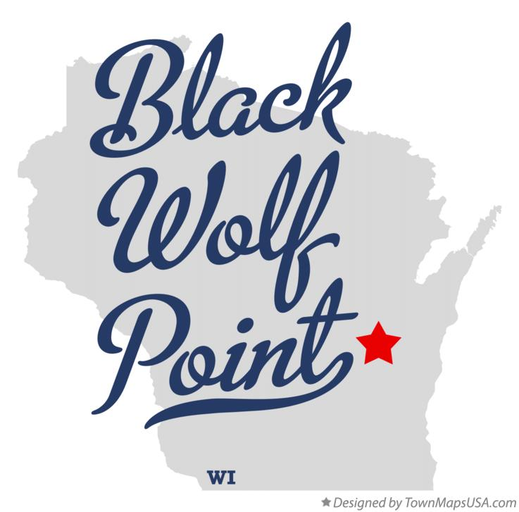 Map of Black Wolf Point Wisconsin WI