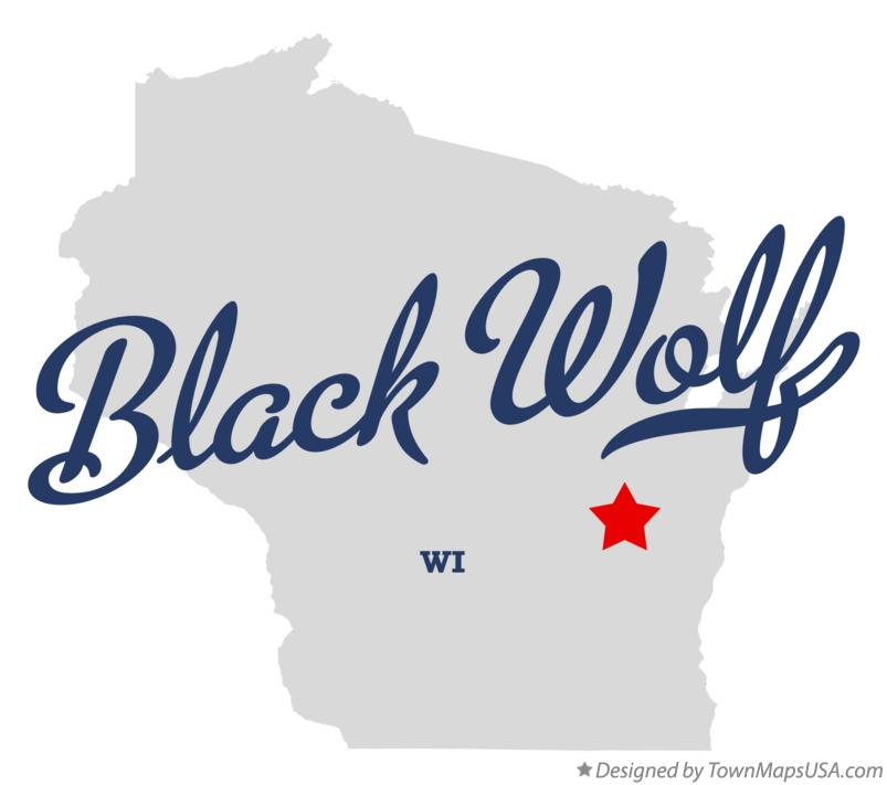 Map of Black Wolf Wisconsin WI