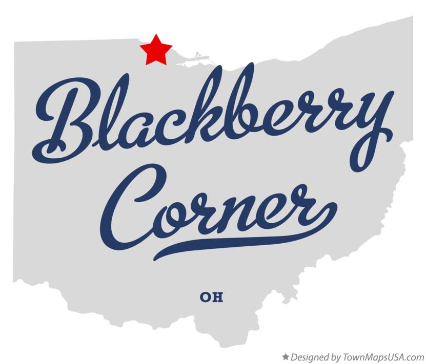 Map of Blackberry Corner Ohio OH