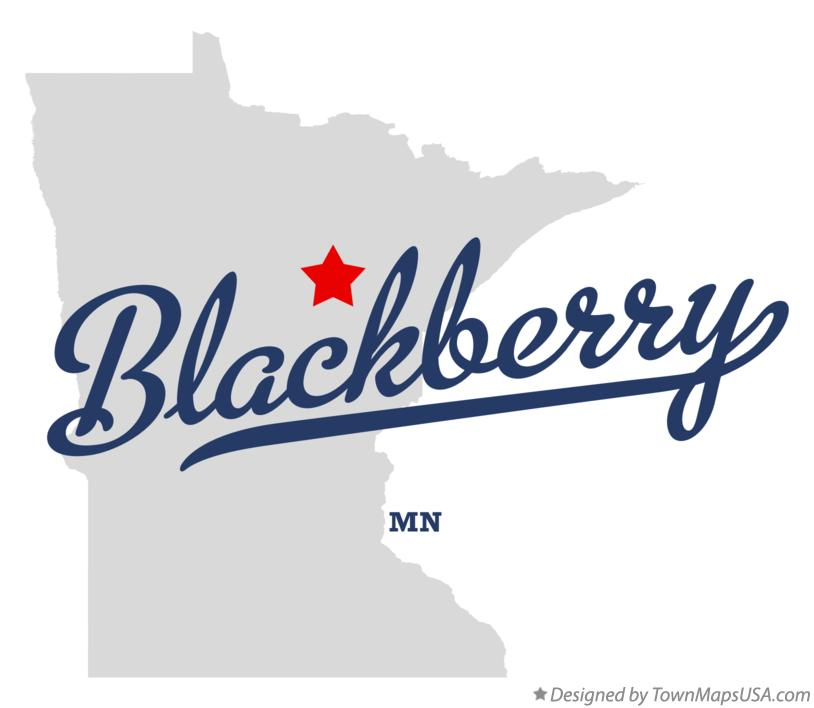 Map of Blackberry Minnesota MN