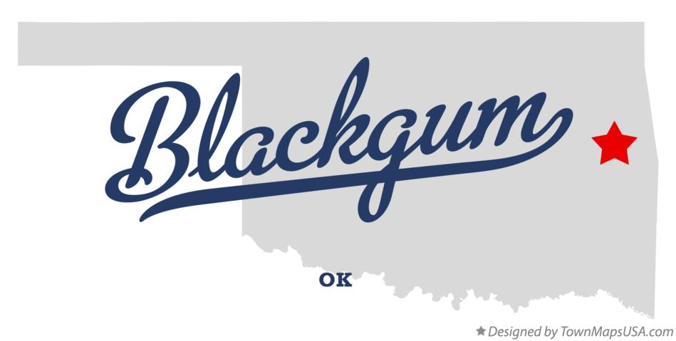 Map of Blackgum Oklahoma OK