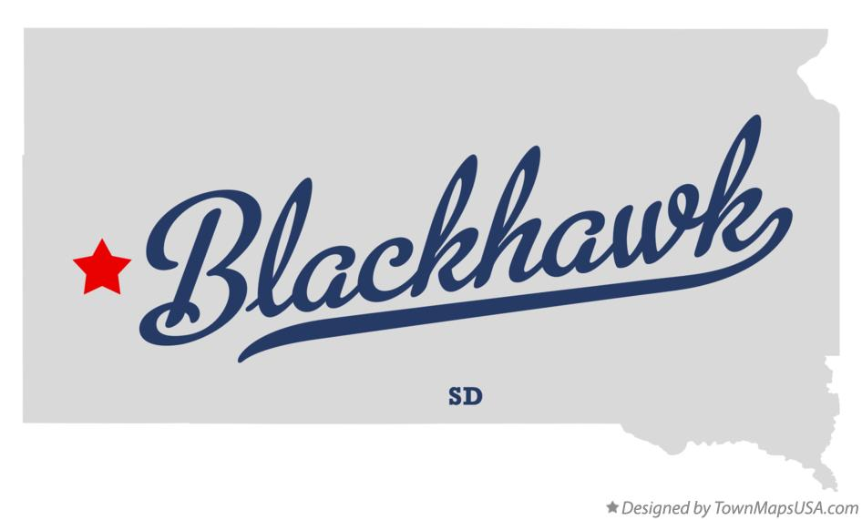 Map of Blackhawk South Dakota SD