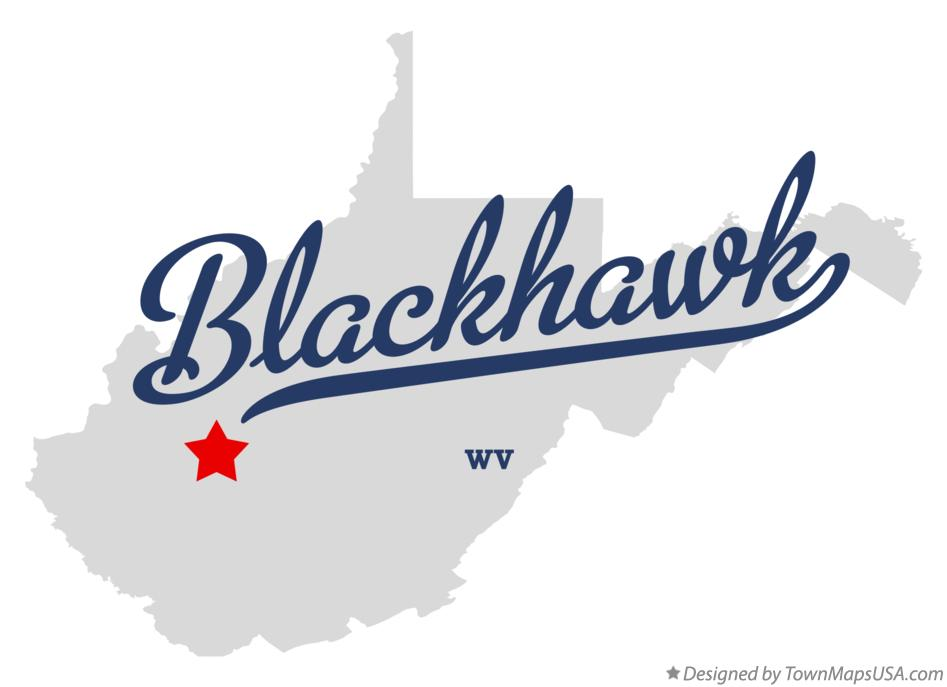 Map of Blackhawk West Virginia WV