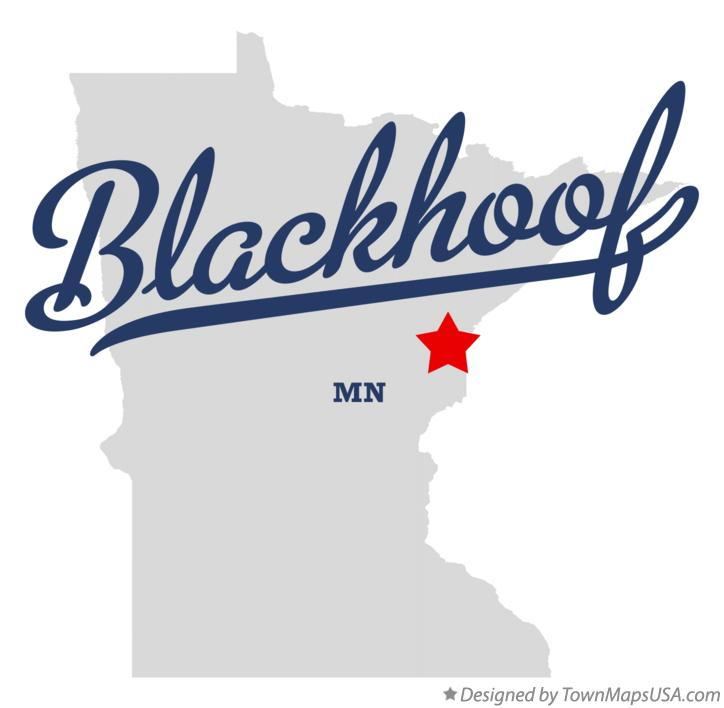Map of Blackhoof Minnesota MN