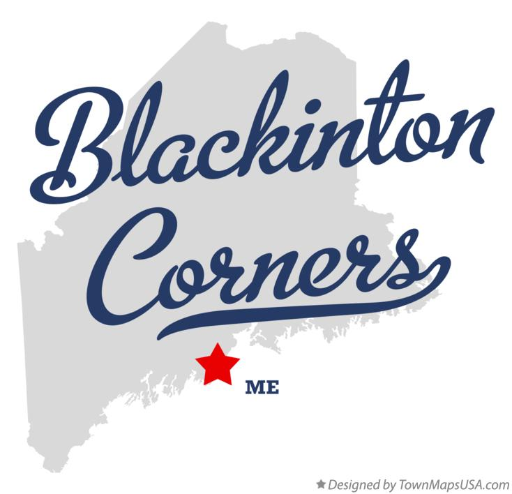 Map of Blackinton Corners Maine ME