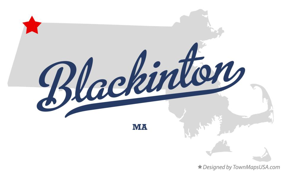 Map of Blackinton Massachusetts MA