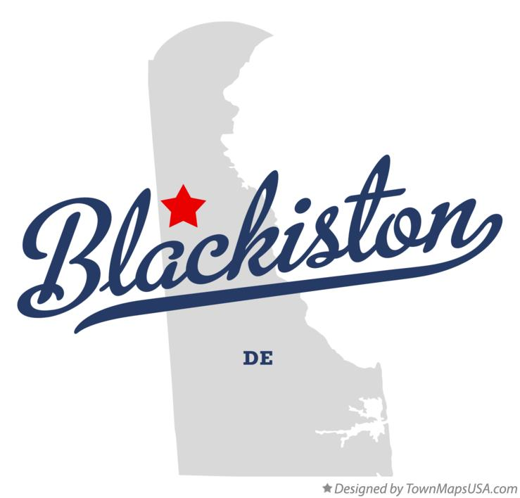 Map of Blackiston Delaware DE