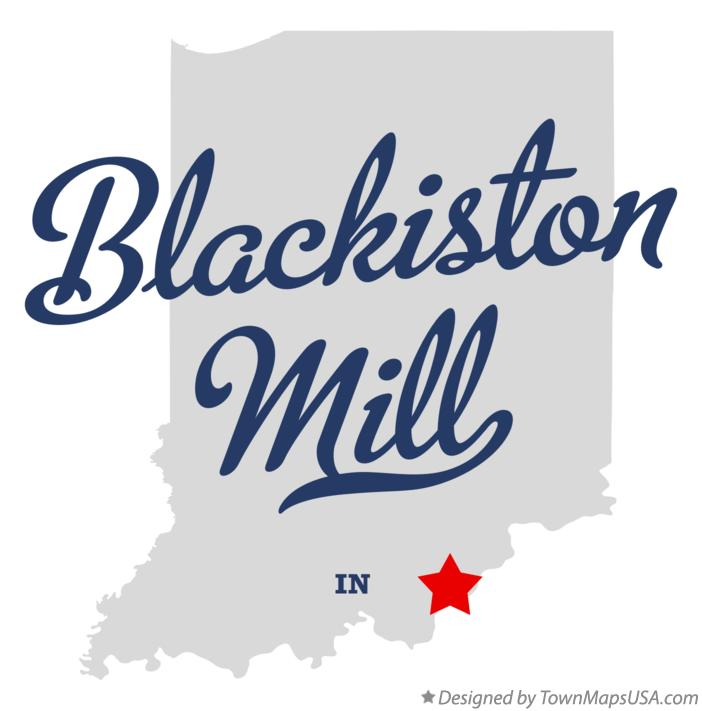Map of Blackiston Mill Indiana IN