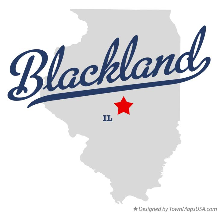 Map of Blackland Illinois IL