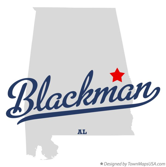 Map of Blackman Alabama AL