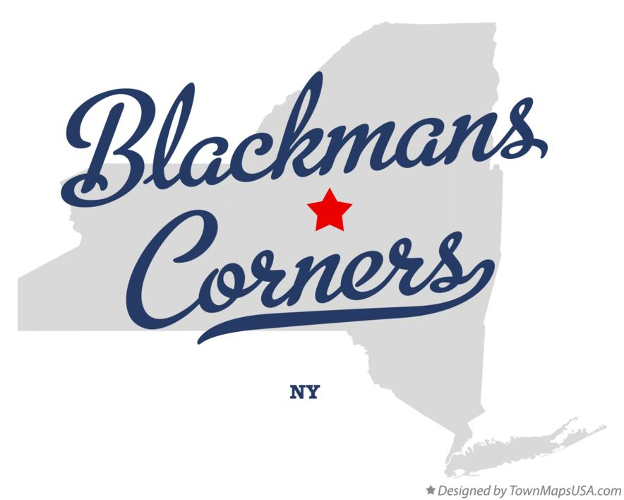 Map of Blackmans Corners New York NY