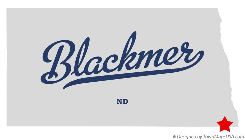 Map of Blackmer North Dakota ND