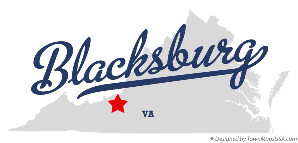 Map of Blacksburg Virginia VA