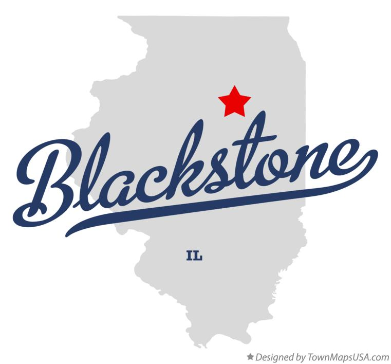 Map of Blackstone Illinois IL