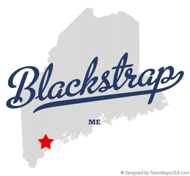 Map of Blackstrap Maine ME