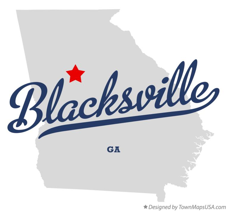 Map of Blacksville Georgia GA
