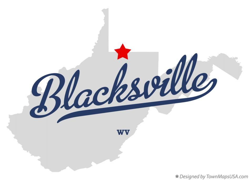 Map of Blacksville West Virginia WV
