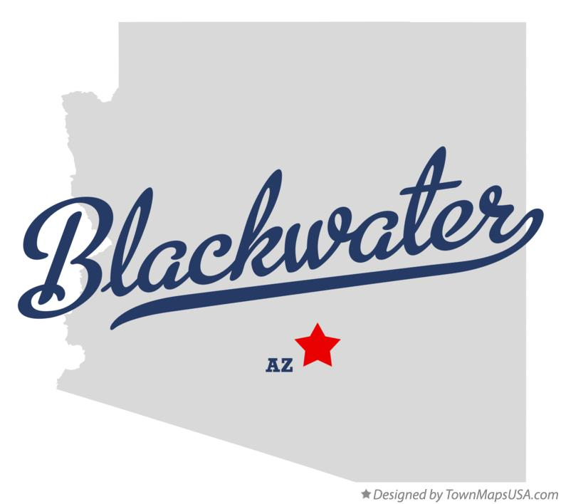 Map of Blackwater Arizona AZ