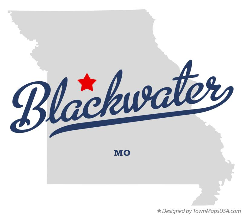 Map of Blackwater Missouri MO