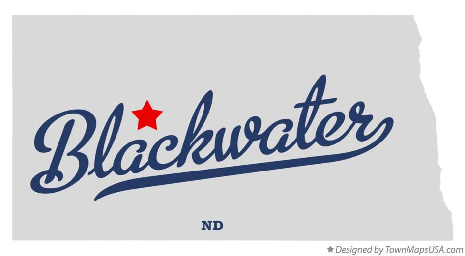 Map of Blackwater North Dakota ND