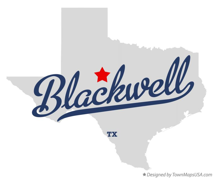 Map of Blackwell Texas TX