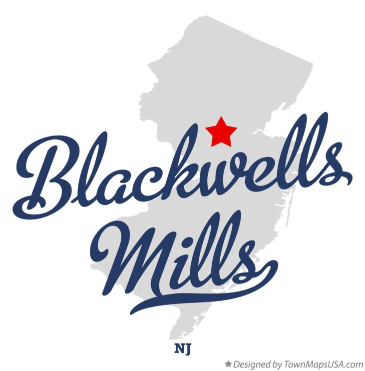 Map of Blackwells Mills New Jersey NJ