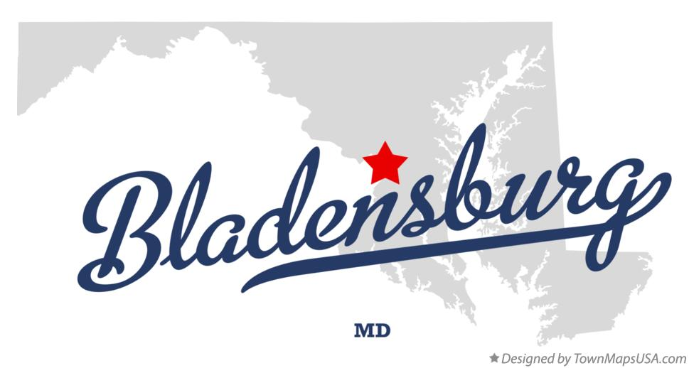Map of Bladensburg Maryland MD