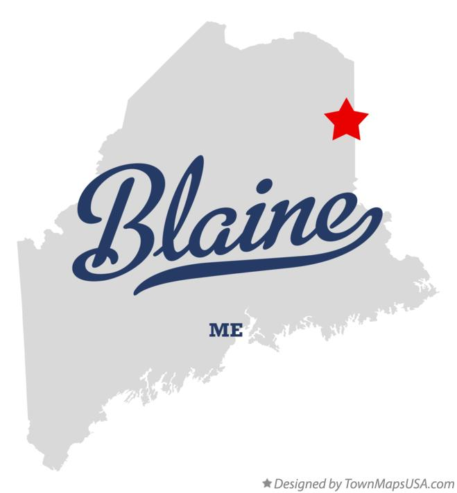 Map of Blaine Maine ME
