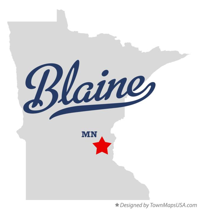 Map of Blaine Minnesota MN