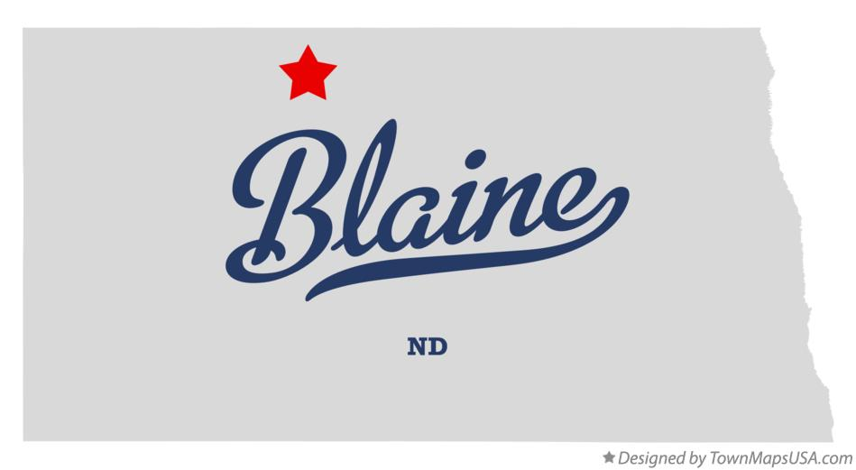 Map of Blaine North Dakota ND