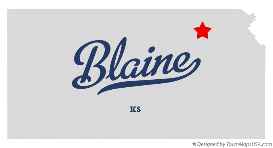Map of Blaine Kansas KS
