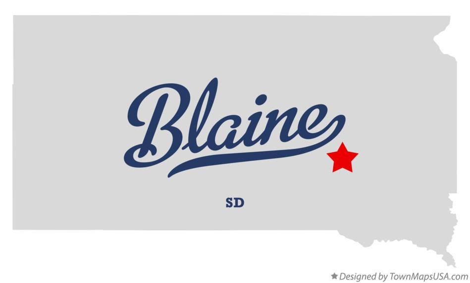 Map of Blaine South Dakota SD