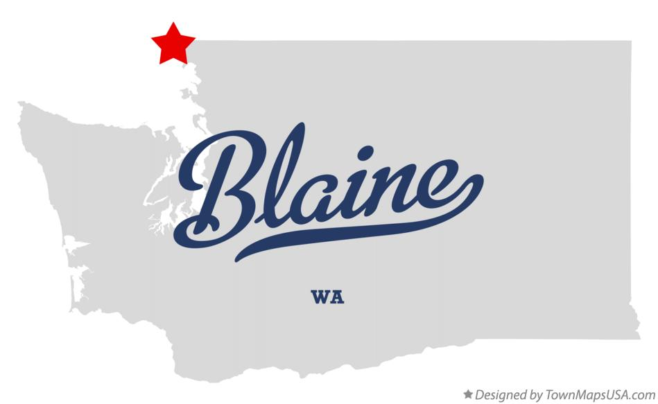 Map of Blaine Washington WA