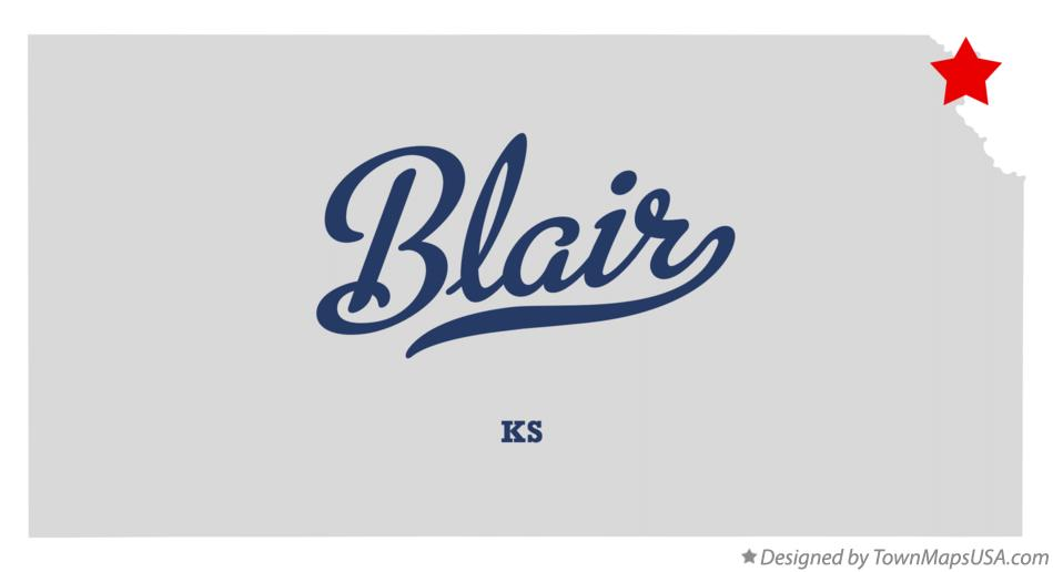 Map of Blair Kansas KS
