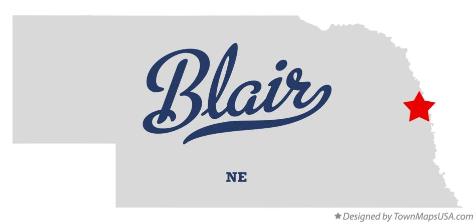 Map of Blair Nebraska NE