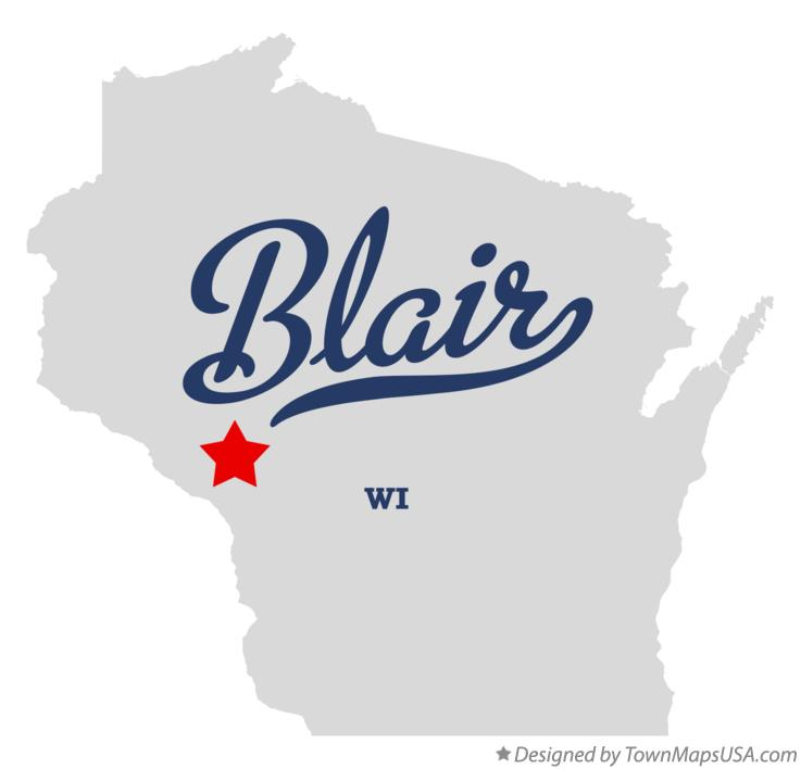 Map of Blair Wisconsin WI
