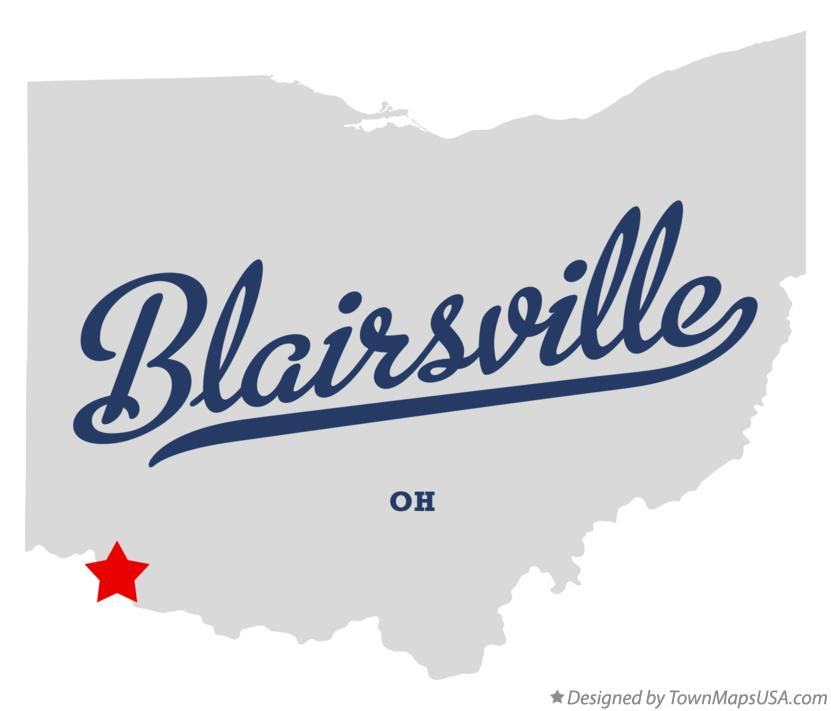 Map of Blairsville Ohio OH
