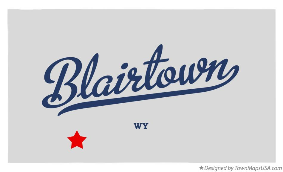 Map of Blairtown Wyoming WY