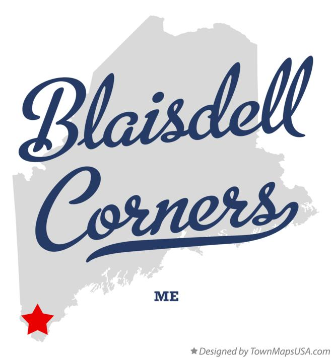 Map of Blaisdell Corners Maine ME