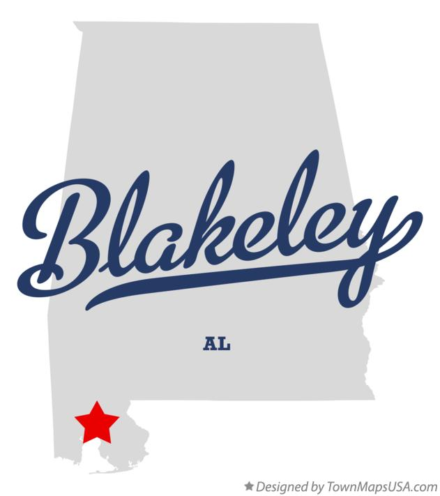 Map of Blakeley Alabama AL