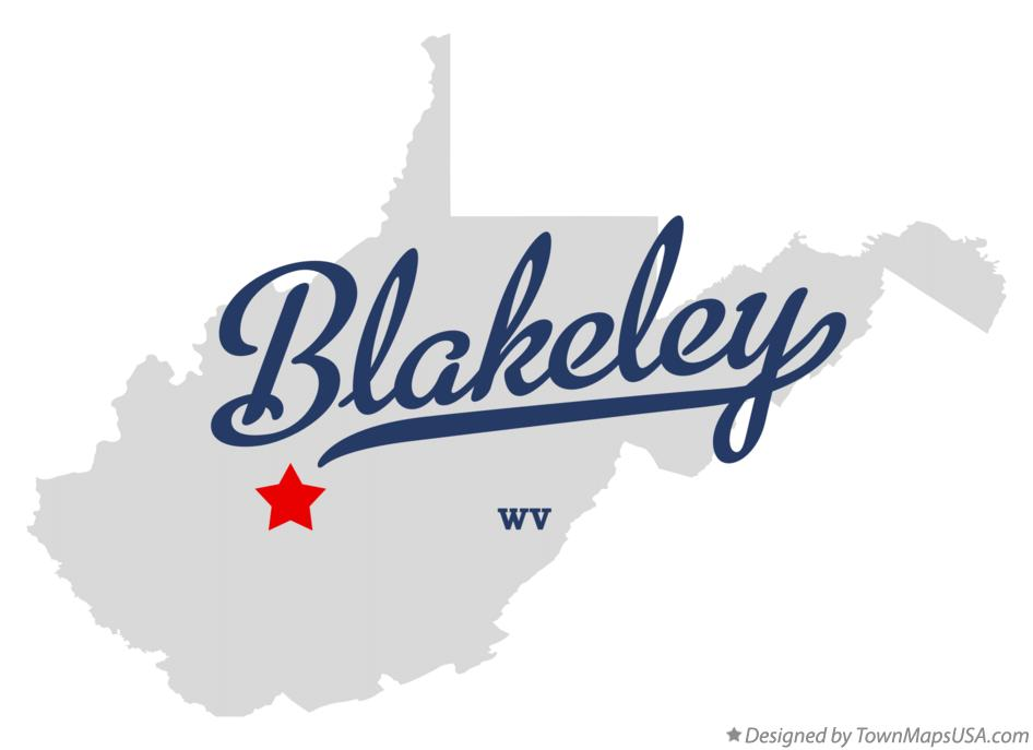 Map of Blakeley West Virginia WV